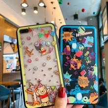 Cartoon Winnie Poohs Monsters University Full Screen Protective Film+Tempered Glass Case For iPhone XS XR MAX X 6 6S 7 8 Plus