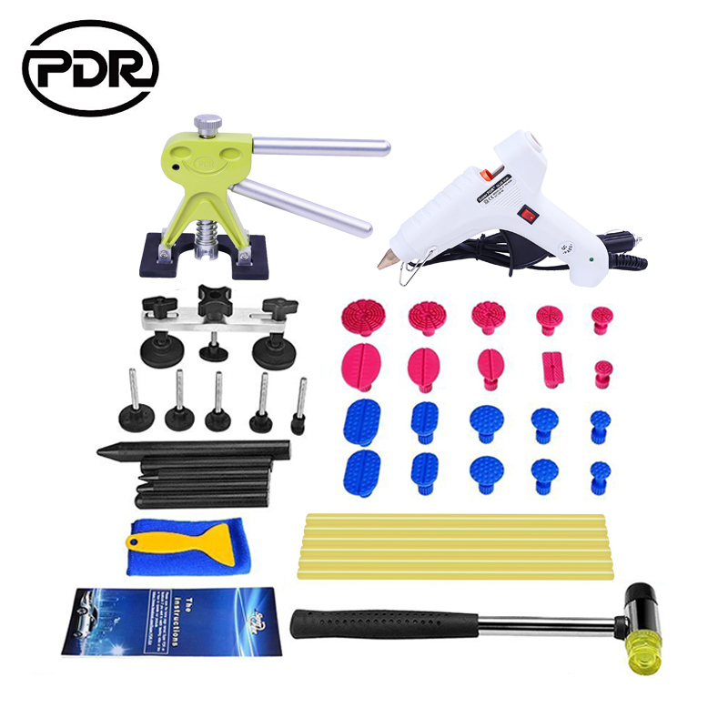 PDR Tools Auto Repair Tools For Car Kit Dent Removal Paintelss Dent Repair Mini Lifter Glue Gun Pulling Bridge Puller Glue Tabs pdr tools to remove dents car dent repair paintelss dent removal puller kit lifter removal glue tabs fungi sucker hand tool set