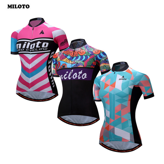 MILOTO Cycling Jersey Women 2017 Pro Team Quick Dry Breathable Short Sleeve  MTB Bike Bicycle Jersey Tops Ropa Ciclismo e520f1ccb