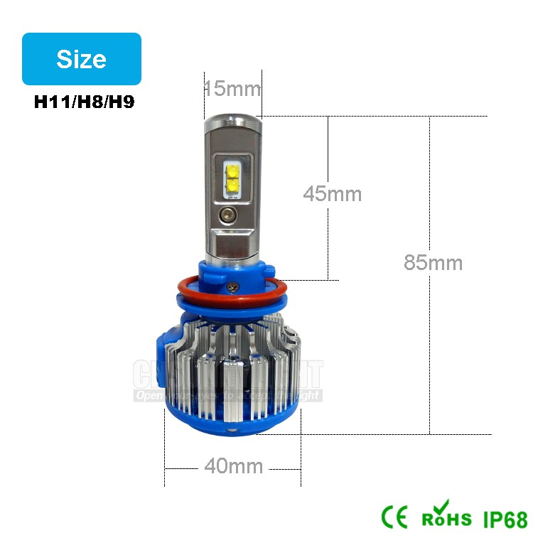 H11 Auto Led Headlight for Cars Motorcycles Front Fog Lighting Lamp Bulb (8)
