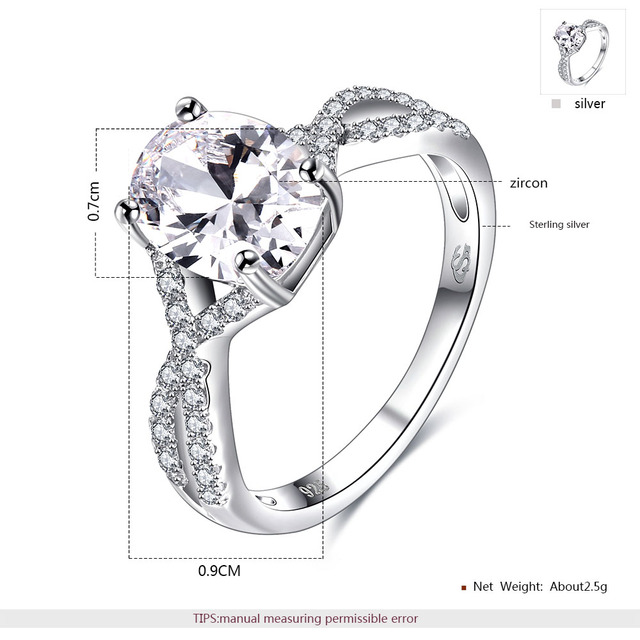ROXI Brand 925 Sterling-silver-jewelry Ring Wholesale Silver Charm For Women Wedding Rings Square Zircon Luxury  Gift