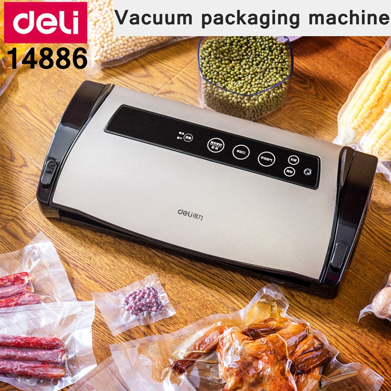 [ReadStar]Deli 14886 vacuum packaging machine food sealing machine 220V 50HZ food binding machine household cammercial[ReadStar]Deli 14886 vacuum packaging machine food sealing machine 220V 50HZ food binding machine household cammercial
