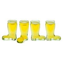40 мл(1,3 унций) очки для виски забавные ковбойские сапоги, тяжелая база развлекательная посуда для напитков