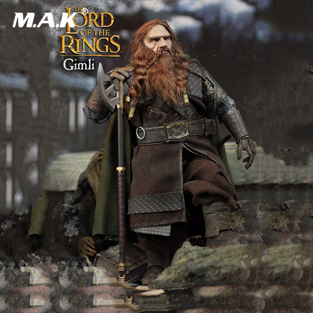 For Collection Full Set Figure LOTR018 The LORD of The RINGS Series Hobbit Gimli Action Figure Doll Toys for Gift new the walking dead the governor tv series amc 12cm pvc action figure model toys for gift