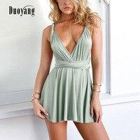 Summer dress women 2018 new hollow out casual beach dress strap sling mini dress women backless short women dress