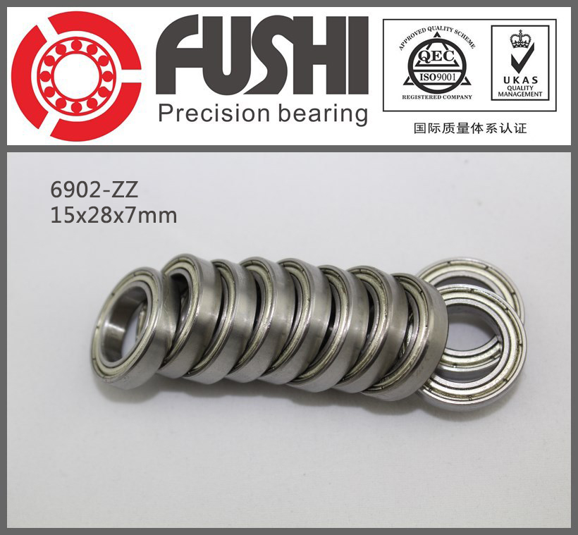 6902ZZ Bearing ABEC-1 (10PCS) 15x28x7 mm Thin Section 6902 ZZ Ball Bearings 6902Z 61902 Z 6902 6902zz 6902rs 6902 2z 6902z 6902 2rs zz rs rz 2rz deep groove ball bearings 15 x 28 x 7mm high quality