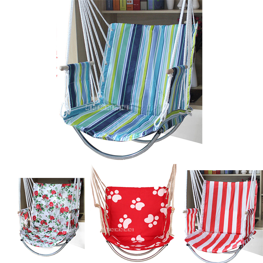 Fashion 8 Color Oxford Deluxe Hammock Garden Dormitory Bedroom Indoor Hanging Chair For Child Adult Swinging Single Safety Chair title=