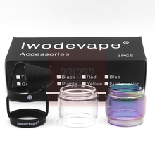 Retail vape accessories tfv8 baby Tank antidust cap vape band clear glass tube 3 in 1 glass tube replacement part iwodevape цена