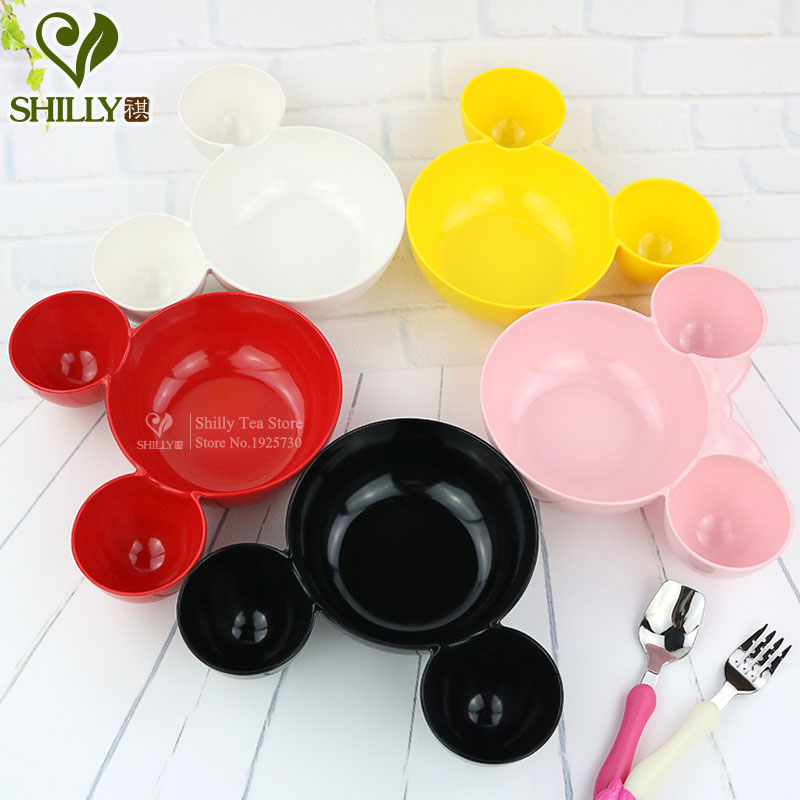 Cartoon Mickey Minnie Shape Plate Melamine Tableware Creative Dish Snack Plate Special Food Dish