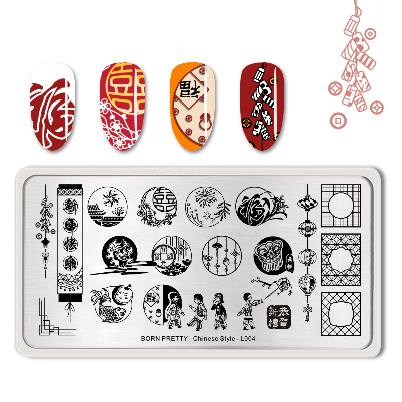 Nail Art Nail Art Templates Square Shape Harajuku Expression Nail Design Plate Dragon Ghost Stamping Template With Protective Layer Sp015 Orders Are Welcome.