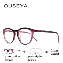 81e880907b Acetate Women Glasses Sight Fashion Trendy Hydrophobic Thin Astigmatism  Transition Aspherical Lens Reading Spectacles  F951