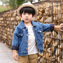Jeans coat for Boys Spring Autumn Children Clothing Teenager Outerwear Kids Blouse Infant Shirt Full Sleeve 2-8Y Clothes