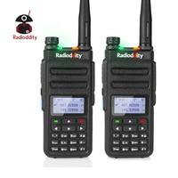 מכשיר הקשר 2pcs Radioddity GD-77 Dual Band Dual זמן חריץ DMR דיגיטלי אנלוגי שני הדרך רדיו 136-174 400-470MHz Ham מכשיר הקשר עם כבל (1)