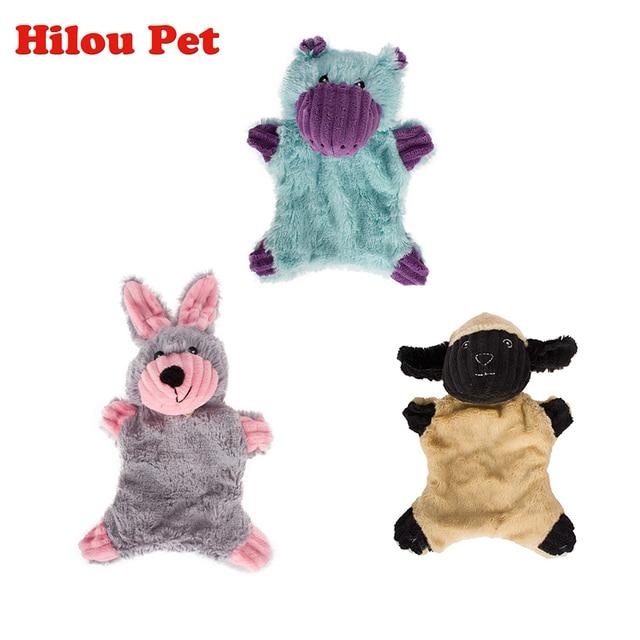 Cute Dog Giocattoli Farciti Cigolio Animali Pet Toy Cucciolo di Peluche Coniglio
