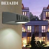 BEIAIDI 5W Waterproof Wall lamp Outdoor Garden Patio Porch Light Aluminum Balcony Courtyard Hotel Villa Outside Lighting Fixture