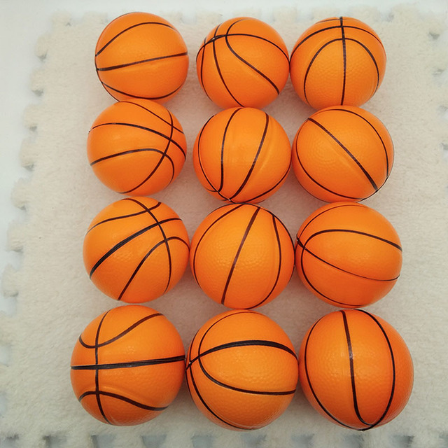 12pcs Children Soft Football Basketball Baseball Tennis Toys Foam Rubber squeeze Balls Anti Stress Toy Balls Soccer 6.3cm