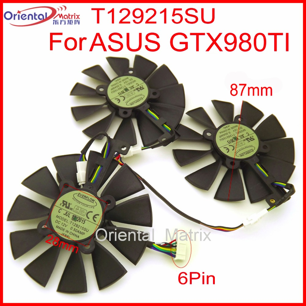 Free Shipping T129215SU 12V 0.5A 87mm For ASUS GTX980TI RX470 RX460 R9 390X GTX1080 GTX1070 Graphics Card Cooler Cooling Fan computer cooler radiator with heatsink heatpipe cooling fan for msi r9 390x r9 390x gaming grahics card vga cooler