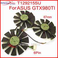 Free Shipping T129215SU 12V 0.5A 87mm For ASUS GTX980TI RX470 RX460 R9 390X GTX1080 GTX1070 Graphics Card Cooler Cooling Fan