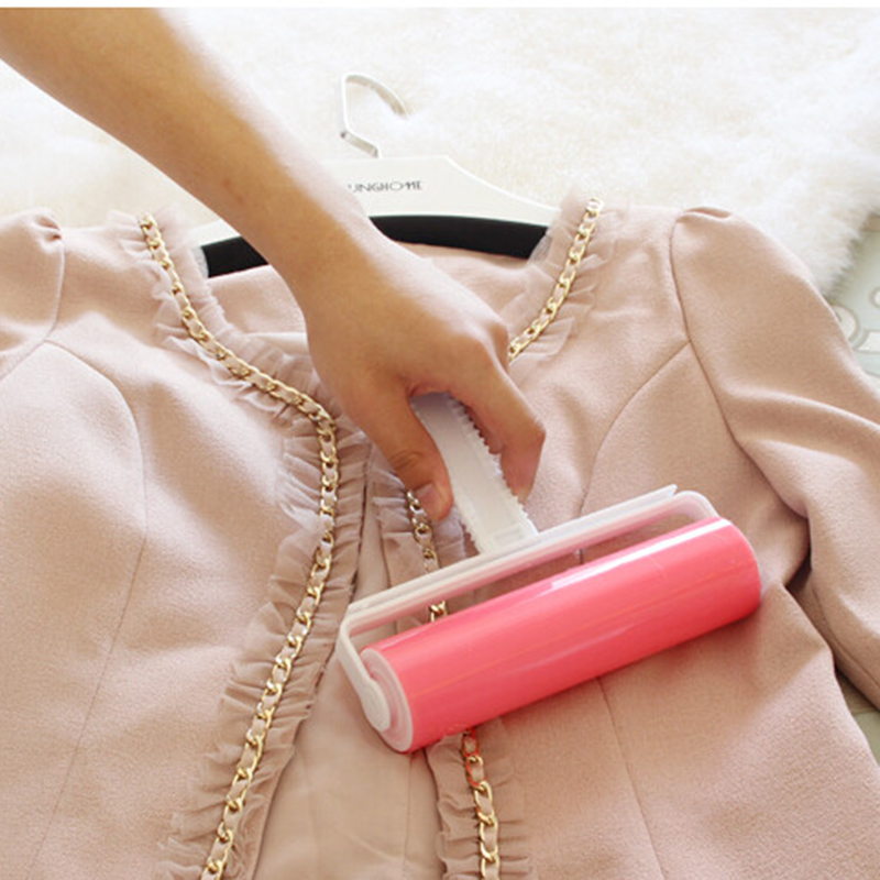 Useful Clothes Cleaning Sticky Hair Roller Reusable Wool Dust Catcher Washable Carpet Dust Drum Lint Cloth Hair Remover Brush