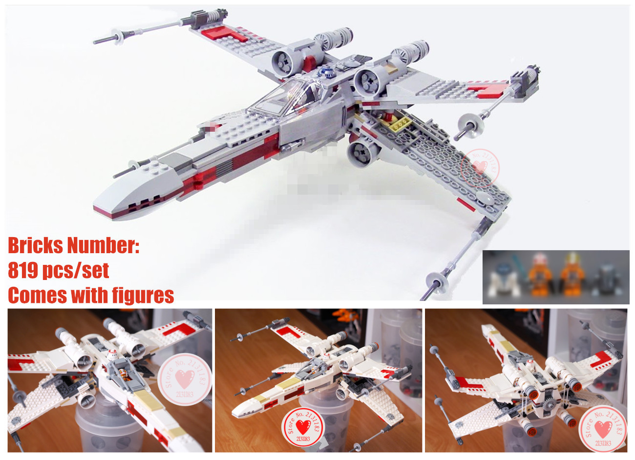 New Star X-Wing fighter Starfighter fit legoings star wars figures city 75218 Building blocks bricks Gifts toys DIY kid new the rogue one usc naboo style fighter fit legoings star wars fighter figures fit 10026 building blocks bricks toys gift kid