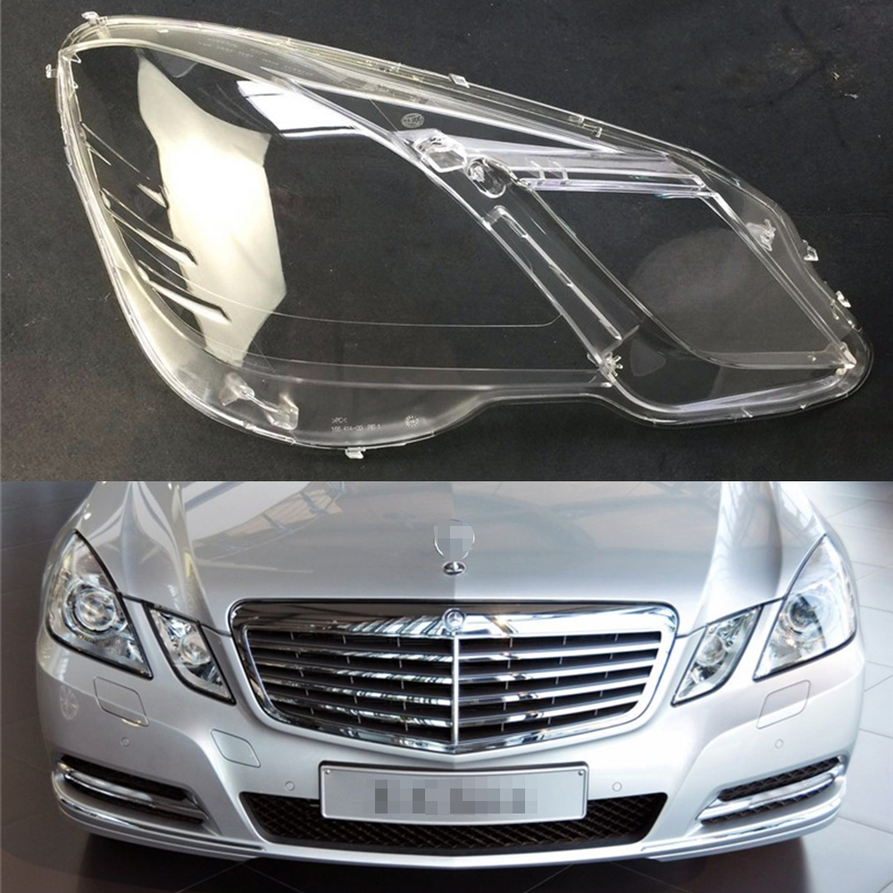 For Mercedes-Benz <font><b>W212</b></font> E200 E260 E300 E350 2009 2010 2011 2012 Car <font><b>Headlight</b></font> Headlamp Clear Lens Auto Shell Cover image