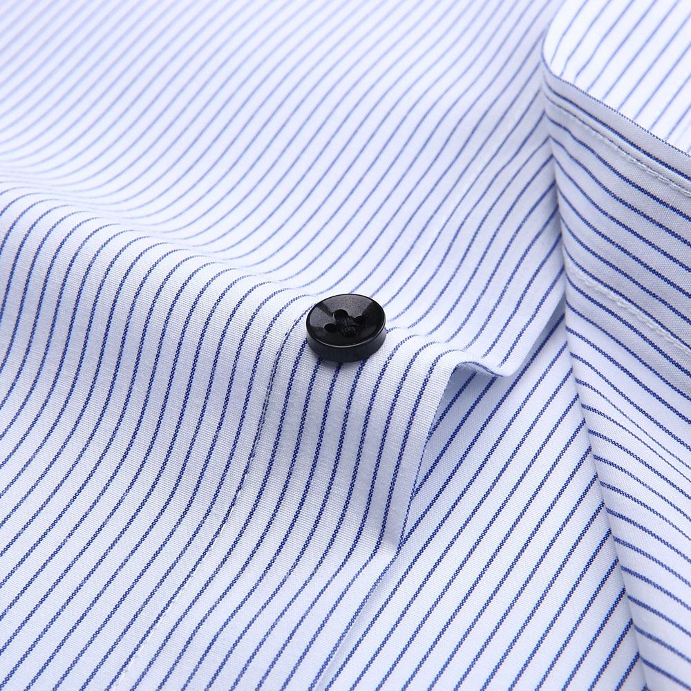 Brand Mens Striped Shirts Casual Social Business Formal Shirt High