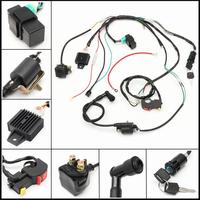 LumiParty 50 70 90 110 CC CDI Wiring Harness Coil Assembly for ATV Electric Quad Kit Wiring Harness Ignition Switch r30
