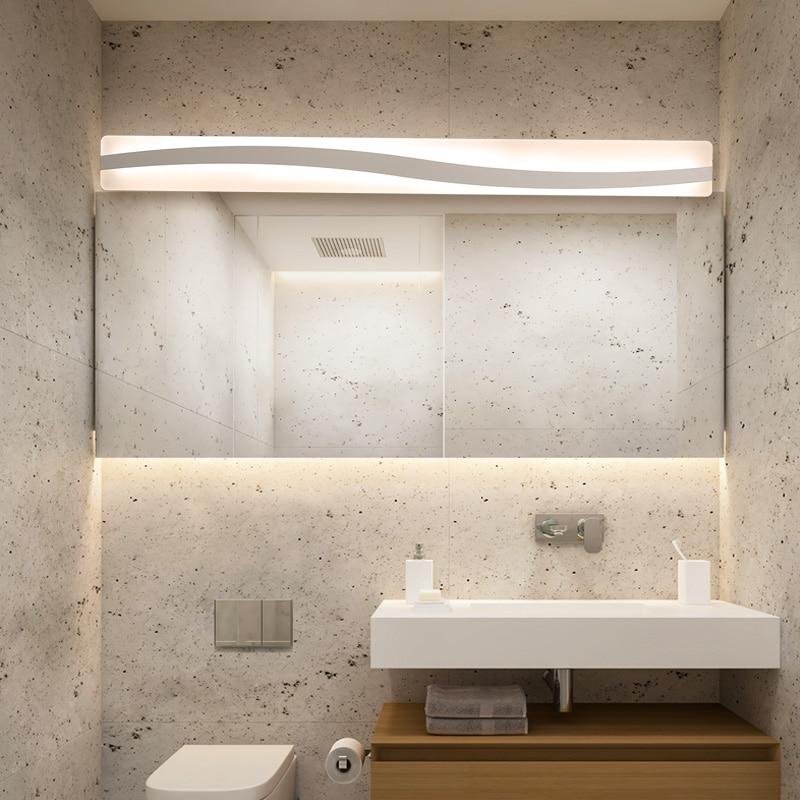 New LED Wall Mirror Light 40-120cm 16-48W AC110-240V Waterproof Modern Cosmetic Acrylic Wall Lamp For Bathroom Light LampNew LED Wall Mirror Light 40-120cm 16-48W AC110-240V Waterproof Modern Cosmetic Acrylic Wall Lamp For Bathroom Light Lamp