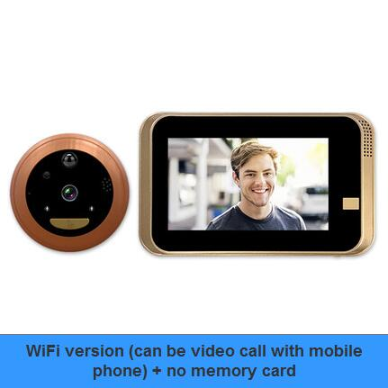 Intelligent Electronic Cat Eye Camera Mobile Phone WiFi Video Doorbell Avoid Punching Night Vision Home Security Door Mirror