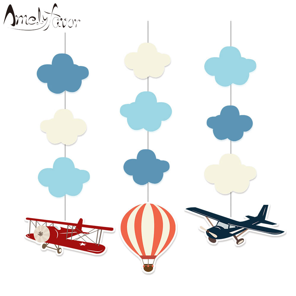 Airplane Hanging Decorations Cutout Festive Party Supplies Party DIY Decorations Event Party Baby Shower image