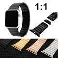 Para a apple watch premium iwatch destacável strap banda invisível fecho de aço inoxidável 316l com conector do adaptador