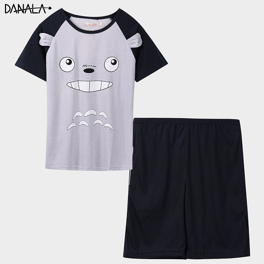 DANALA Casual Pajamas Man Sets 2019 Short Sleeve Supple Nightwear Sets Summer Home Clothes For Man Sleepwear Home Suits