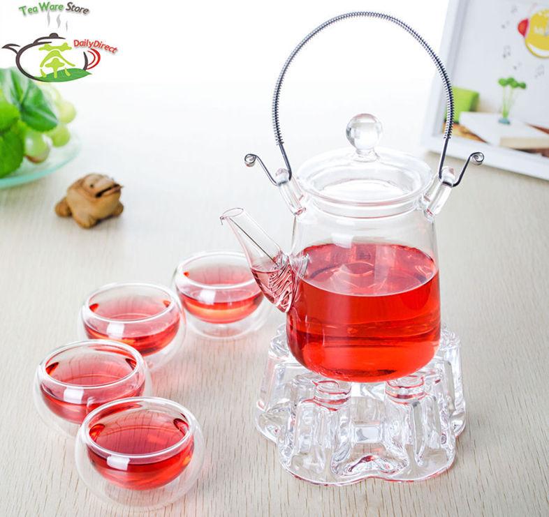 ₪1x té E-10.1fl.oz/300 ml resistentes al calor tetera de cristal W ...