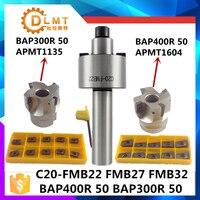 C20 FMB22 Face Mill Cutter BAP300R BAP400R 50 22 With 10Pcs APMT1604 Carbide Insert Suitable For