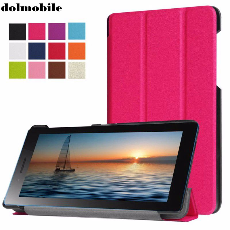 dolmobile Ultra Slim Tri-Fold PU Leather Case Stand Cover for Lenovo Tab 3 730F 730M 730X TB3-730F TB3-730M Screen Protector dolmobile ultra slim tri fold pu leather case stand cover for lenovo tab 3 730f 730m 730x tb3 730f tb3 730m screen protector