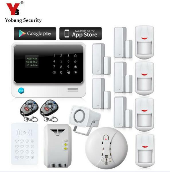 все цены на YobangSecurity G90B Wireless WIFI GSM Home Security Alarm System APP Control RFID Keypad Smoke Sensor Gas Sensor Detector