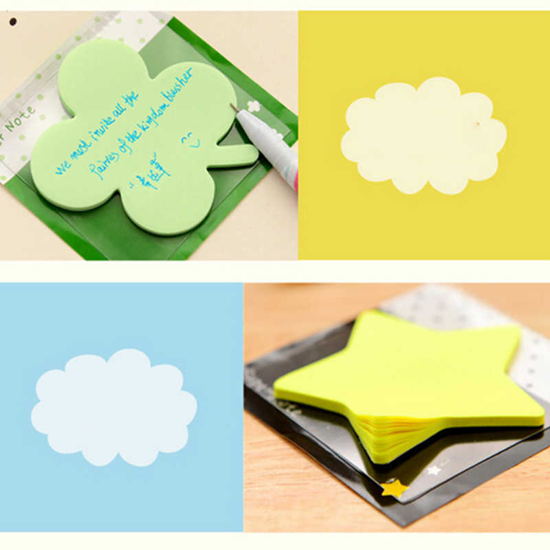 Nouveau dessin animé jouet coeur fleur étoile calendrier autocollants classique jouets autocollants Notes autocollantes Message Scratch pad mignon taille: 6*6cm