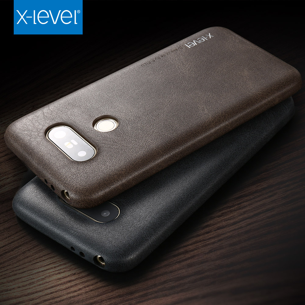 innovative design a3ab0 257d4 US $10.0 |X Level Shockproof high quality vintage pu leather phone case for  LG G5 V10 V20 luxury Simple Business back case cover-in Half-wrapped Cases  ...