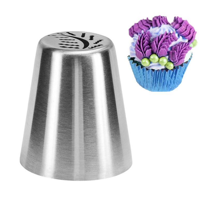 VOGVIGO DIY Cake Decorating Tools Cookie Cutting Russia Ball Nozzle Flower Tip Icing Piping Nozzle Stainless Steel Cream Nozzles