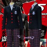 Аниме игры персона 5 Акира Курусу Для мужчин пальто Ren Амамия Костюмы для косплея на Хеллоуин для девочек школьная униформа для унисекс