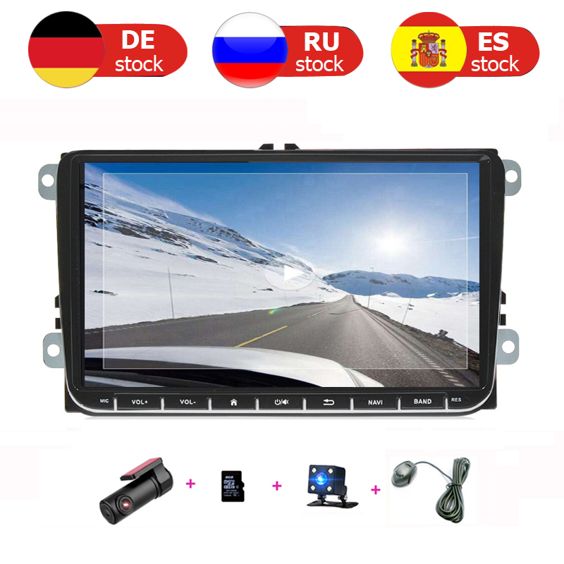 Car Multimedia GPS Radio Android 2 din for golf 4 5 6 skoda vw polo sedan