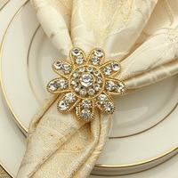 12/pcs High grade metal alloy Chinese European napkin buckle napkin ring Hotel model room napkin ring