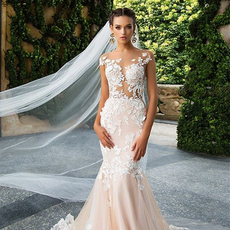 Champagne Color Wedding Dresses Vestidos De Noiva 2017: New 2019 Backless Long Mermaid Sexy Champagne Wedding