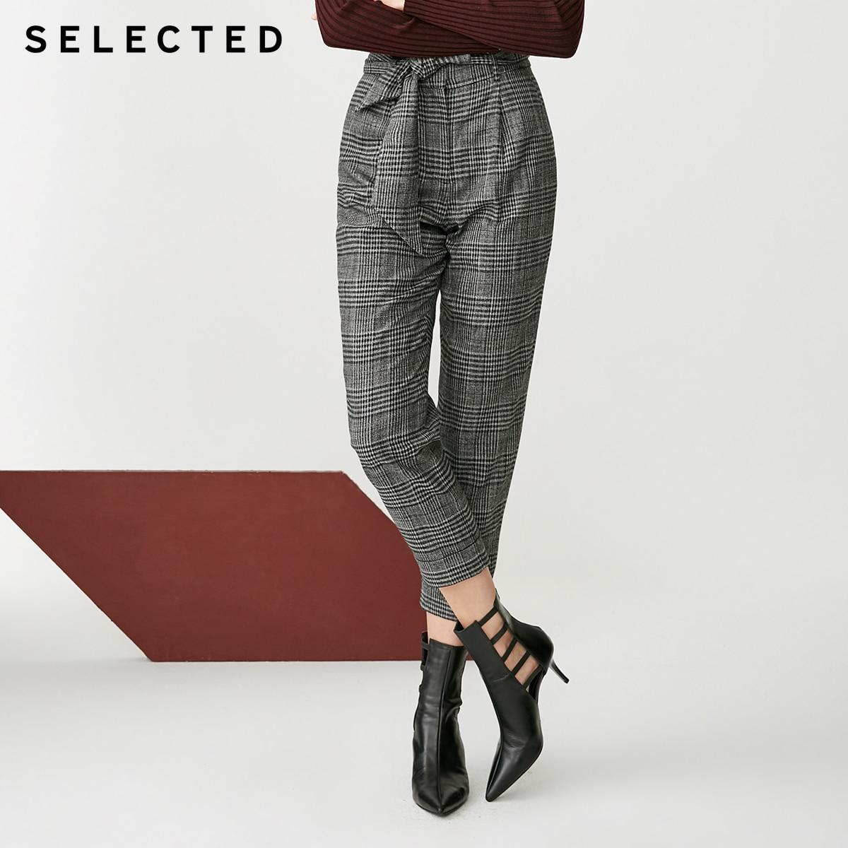 Pantalones cortos ajustados de encaje a cuadros para mujer seleccionados  418414509-in Pantalones y pantalones pirata from Ropa de mujer    1