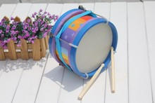 Baby brand Marching drum wooden music instrumental toys, big sze  Kids Child  early learning educational toys, free shipping