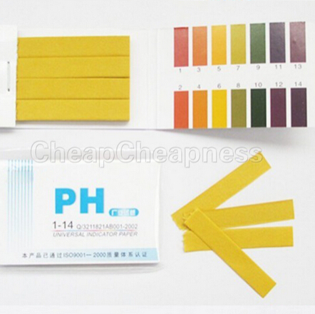 Full Range 1-14 PH 80 Strips Paper Analyzers Test Paper Strips Chemistry Teaching Supplies