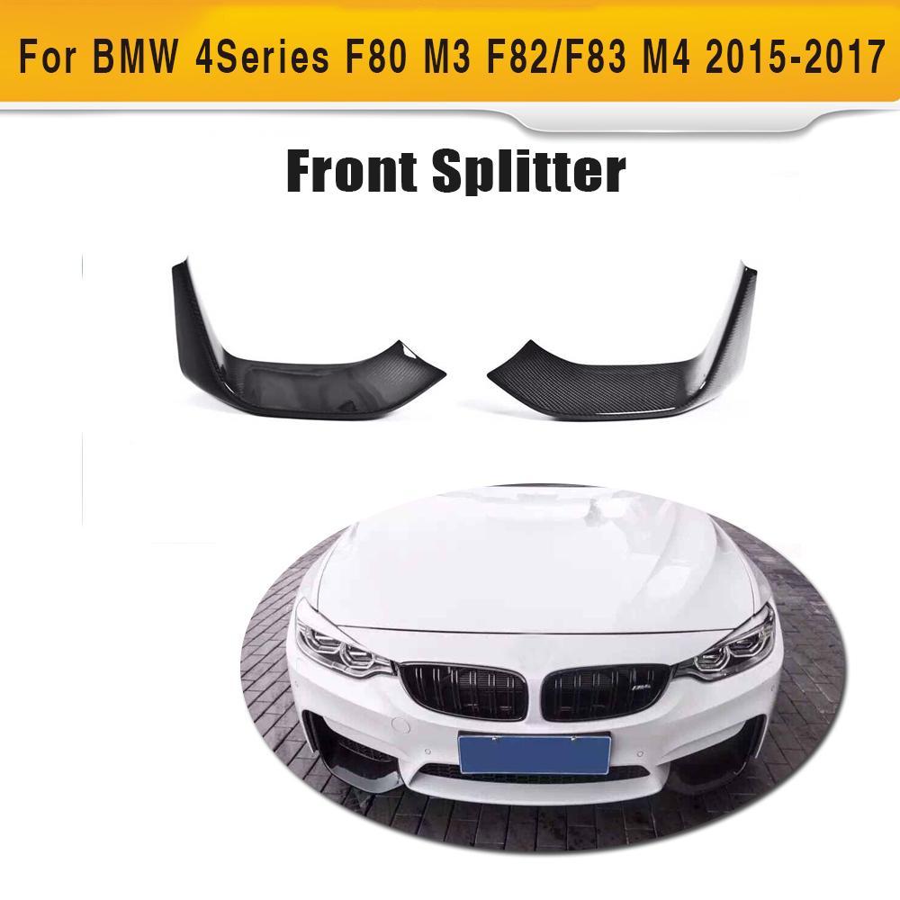 Carbon fiber front bumper lip splitter for bmw f80 m3 f82 f83 m4 2 door 2015
