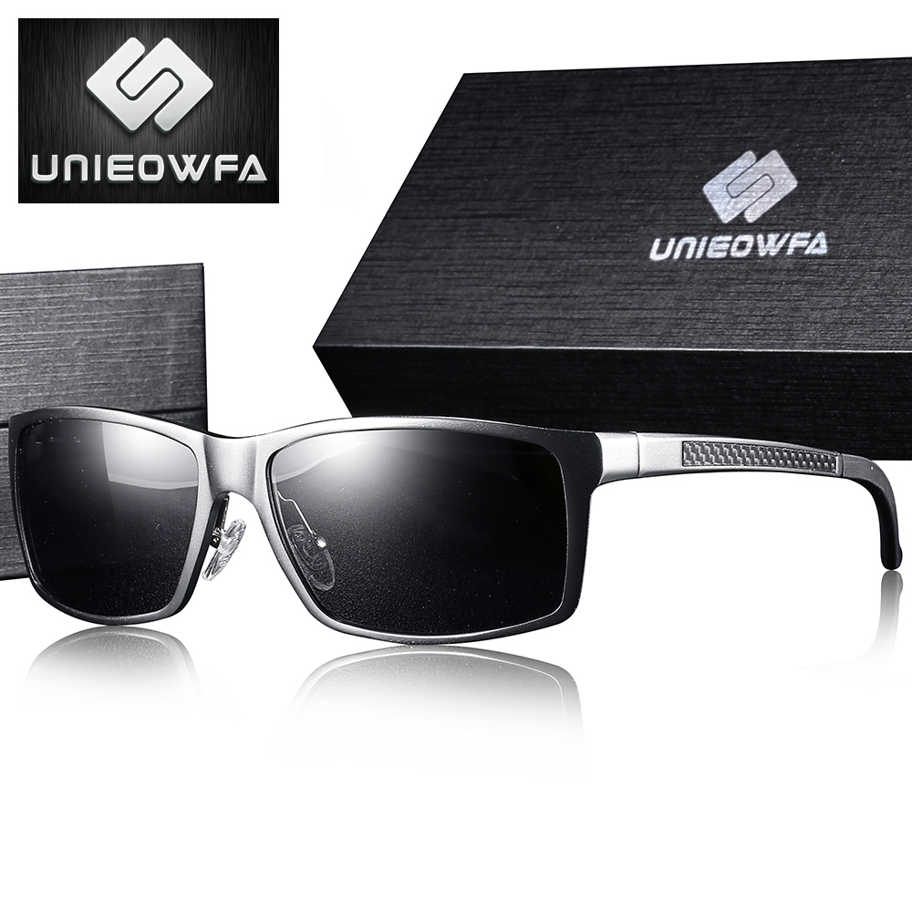 UNIEOWFA Sports Prescription Sunglasses Men Polarized Myopia Sun Glasses Male Optical Prescription Eyewera Aluminum Magnesium(China)