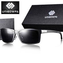 UNIEOWFA-gafas de sol deportivas graduadas para hombre, lentes de sol polarizadas para miopía, graduadas ópticas, de aluminio y magnesio