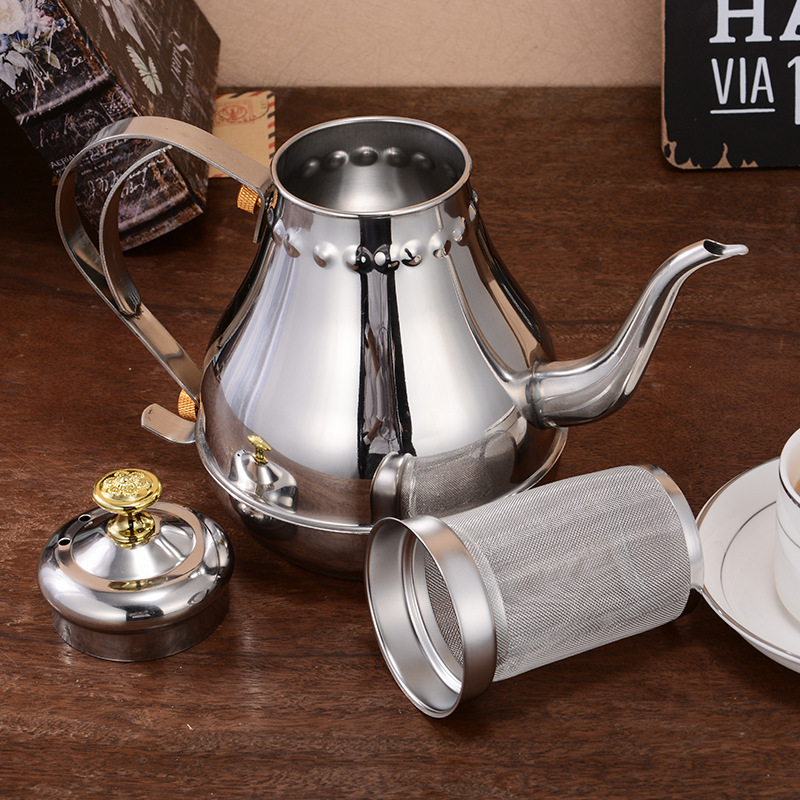 1.2L 1.8LStainless Steel Coffee Pot Mocha Espresso Latte Percolator Stove Maker Drink Tool Cafetiere